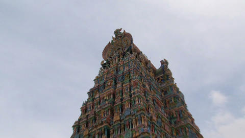 Zoom out temple Stock Video Footage