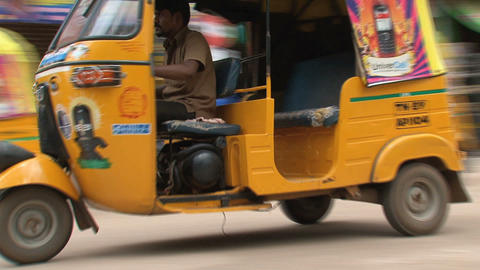 Pan from a tuk tuk Footage