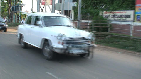 Hindustan Ambassador Stock Video Footage