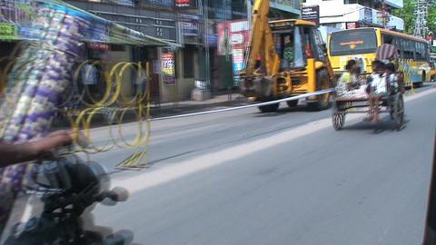 TukTuk Driving fast Stock Video Footage