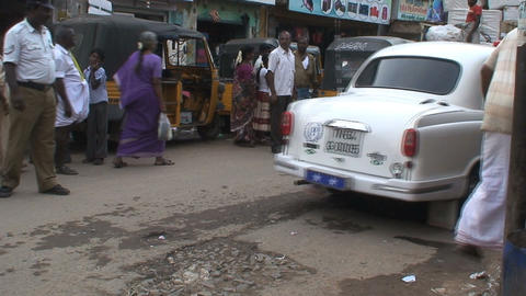 Hindustan Ambassador car Stock Video Footage