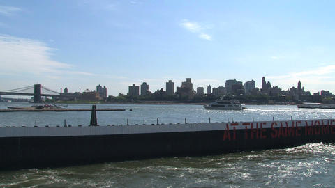 Ferry in NYC Stock Video Footage