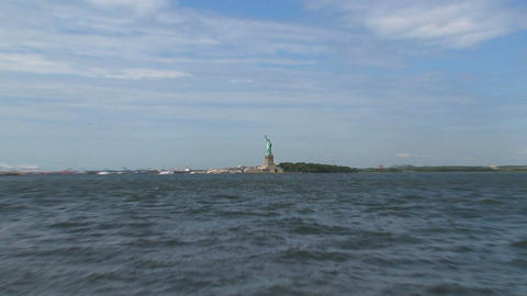 Zoom out from the The Statue of Liberty Footage