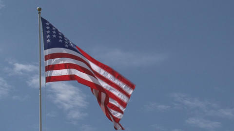 Close up American flag Stock Video Footage