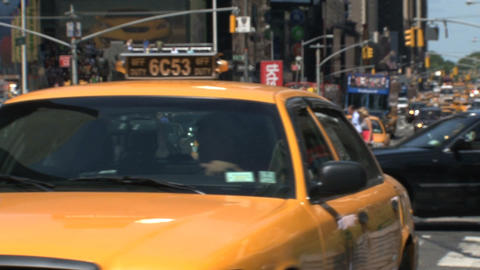 taxi leaving Stock Video Footage