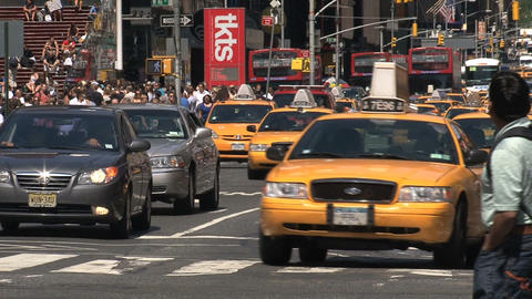 Yellow taxis Stock Video Footage