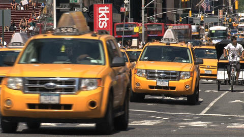 Yellow taxis Footage
