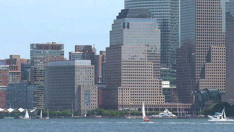 Zoom out manhattan Stock Video Footage