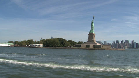 statue cruises Stock Video Footage