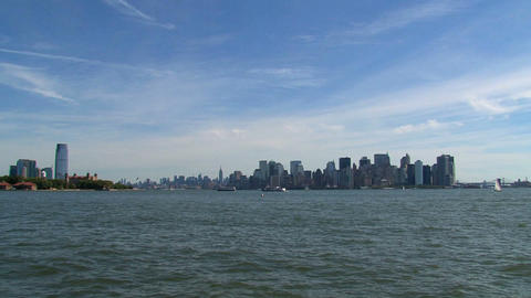 Skyline New York City 2010 stock footage