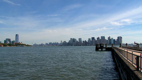 New York City skyline 2010 Stock Video Footage