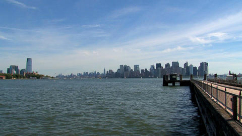 New York City skyline 2010 Footage