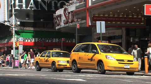 Yellow cabs Stock Video Footage