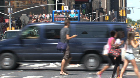 People at times square Stock Video Footage