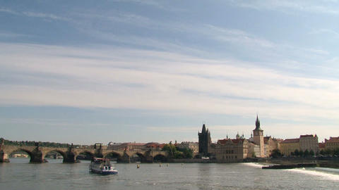 Prague city view Stock Video Footage