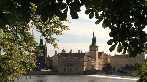 park Prague Stock Video Footage