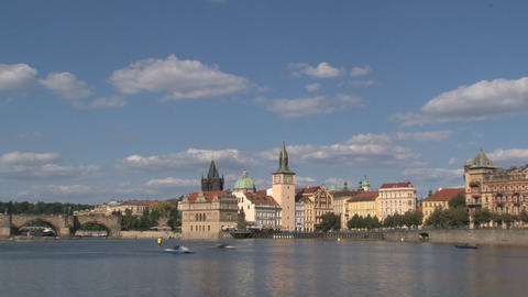 Vltava River stock footage