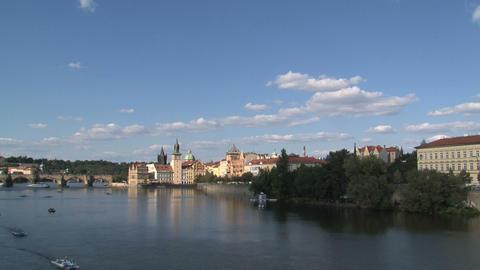 Vltava river time lapse Stock Video Footage