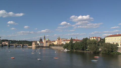 Vltava river time lapse Stock Video Footage