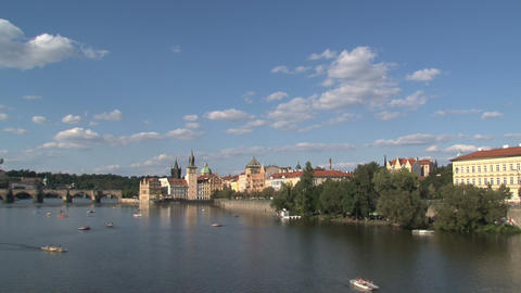 Vltava river time lapse Footage