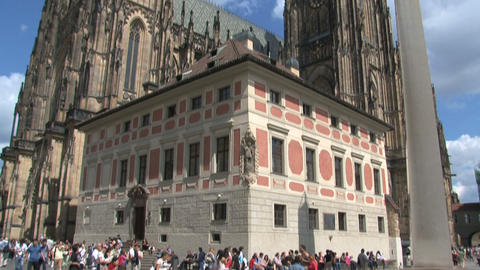 Prague Castle Tilt stock footage