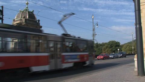 Tram passing Footage