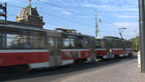 Tram passing Stock Video Footage