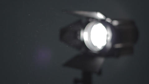 Panning throw shine of floodlight Stock Video Footage