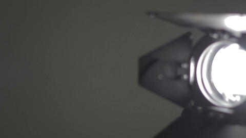 Shine of floodlight. Camera Panning Stock Video Footage