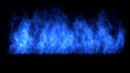 Flame blue. Lower third Animation