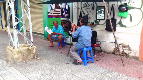 Ear Cleaner in Ho Chi Minh City, Vietnam Stock Video Footage