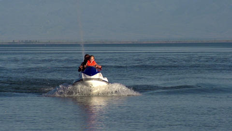 Riding on a Jet ski HD Stock Video Footage