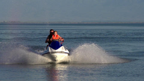 Riding on a Jet ski HD Footage