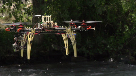 Hexa Copter HD stock footage