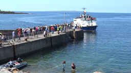 Aran Ferry 1 Stock Video Footage