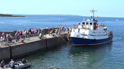 Aran Ferry 1 Stock Video Footage
