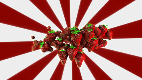 Strawberries Background Loop Stock Video Footage