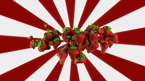 Strawberries Background Loop Animation