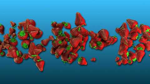 Strawberries Twist stock footage