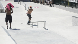 Unidentified skater Stock Video Footage