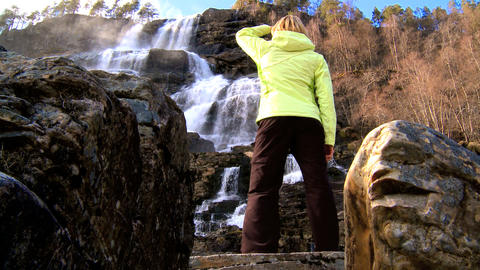 Lone young female fulfills her ambitions Stock Video Footage