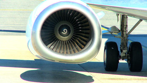 Commercial Jet Airliner Being Prepared For Flight stock footage