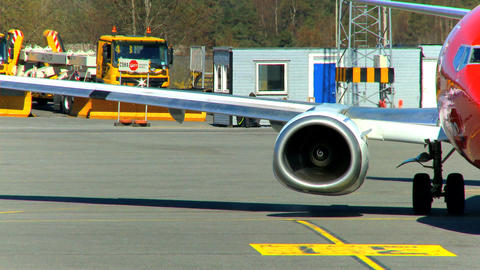 Commercial jet airliner being prepared for flight Stock Video Footage