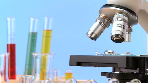 Elementary lab equipment for early learning science in... Stock Video Footage