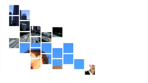 Collage of business & communication graphics Stock Video Footage