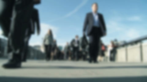 City commuters Stock Video Footage