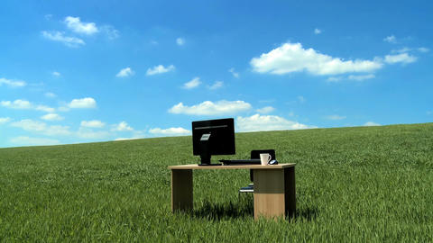 Modern business technology in a conceptual office without... Stock Video Footage
