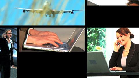 11720609BUSINESSMONTAGEEX3 Stock Video Footage