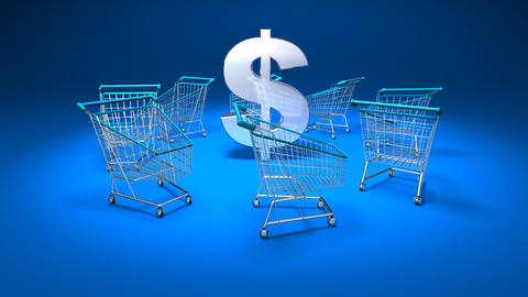 shopping cart dollar 1 Animation