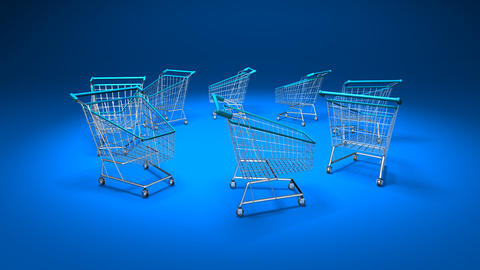 shopping cart 1 Stock Video Footage